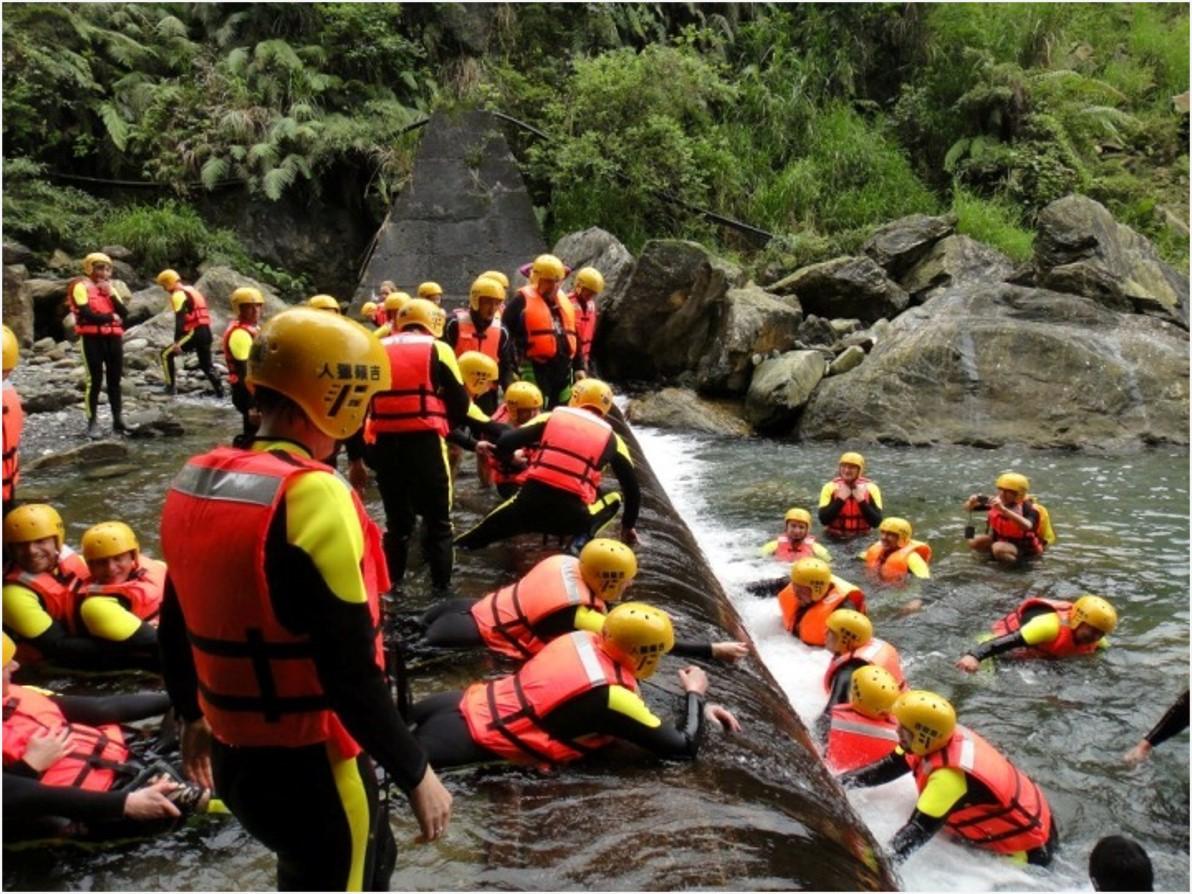 獎勵旅遊行程:溯溪